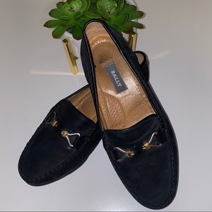 Bally Switzerland Loafer Suede with Bit Detail 8W
